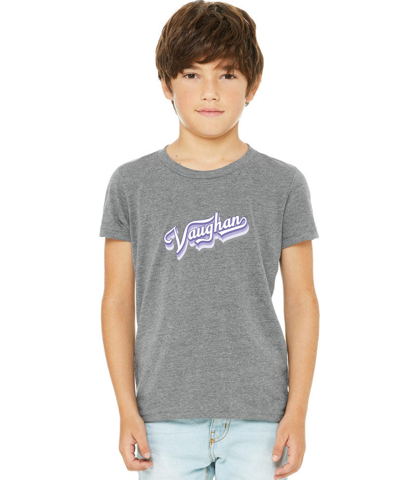 2020 Bella Canvas Gray shirt with Purple and White Logo (Youth & Adult sizes)