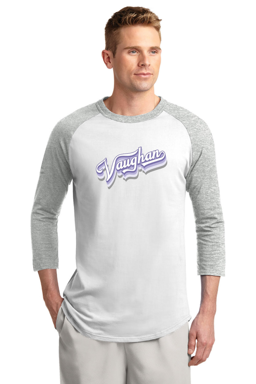 2020 Raglan shirt with Purple and White Logo (Youth & Adult sizes)